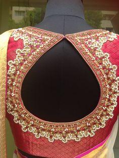 Wedding Saree Blouse Designs, Saree Blouse Neck Designs, Choli Designs, Fancy Blouse Designs, Hand Work Blouse, Maggam Work Designs, Stylish Blouse Design, Designer Blouse Patterns, Sarees