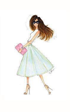Fashion Illustration: Mint Sorbet Print