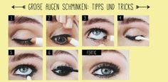 Augen schminken Tipps - große Augen