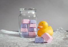 Use ice cube trays to make these mini bath bombs.