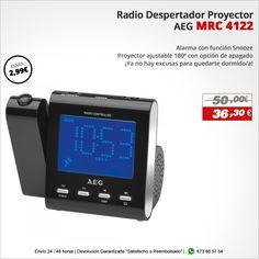 ¡Ya no hay excusas para quedarte dormido/a! Radio Despertador Proyector AEG MRC 4122 http://www.electroactiva.com/aeg-radio-despertador-proyector-mrc-4122.html #Elmejorprecio #Chollo #Despertador #Electronica #PymesUnidas