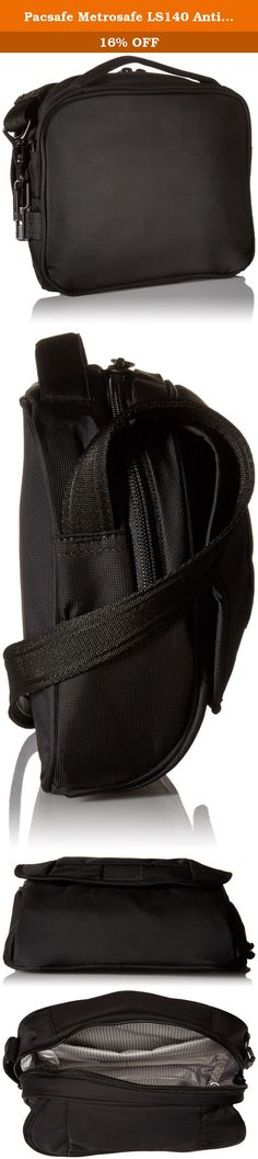 Pacsafe Metrosafe LS140 Anti-Theft Compact Shoulder Bag, Black. The revamped Metrosafe LS140 Anti-Theft Compact Shoulder Bag from Pacsafe stays true to its classic design heritage, while providing functionality and seamlessly integrated security technology. The bag's fabric is embedded with eXomesh slash guard, a lightweight flexible, stainless steel wire mesh that protects your gear from a quick slash-and-run theft. Flexible, stainless steel wire runs through the adjustable Carrysafe…