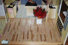 Hardwood floor for doll house (popsicle sticks)