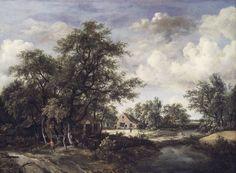 Hamlet in the Wood by Meindert Hobbema