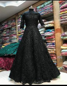 Indian Gowns Dresses, Indian Fashion Dresses, Dress Indian Style, Pakistani Dresses, Bridal Dresses, Dress Fashion, Black Indian Gown, Wedding Dresses, Evening Gowns Online