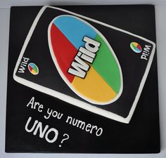 Uno card game cake by Piper Cakes