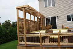 Best Small deck designs ideas that you can make at home! small deck ideas on a budget, small deck ideas decorating, small deck ideas porch design, small deck ideas with stairs Concrete Patios, Cement Patio, Backyard Privacy, Backyard Patio, Pergola Patio, Privacy Wall On Deck, Privacy Ideas For Deck, Small Pergola, Small Patio