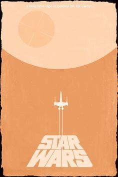 Star Wars Episode IV - Minimalist Artist Matt Ferguson