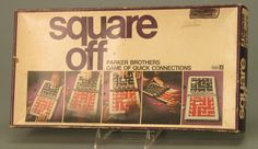 Square Off: Parker Brother's Game of Quick Connections. Loved this game.  Mom use to be able to whoop me