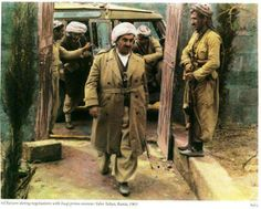 Mustafa Barzani in 1963, walking into negotiations with Iraqi prime minister Tahir Yahya.