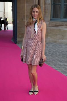 Olivia Palermo's plaid French girl-esque dress. See 5 other celebrities whose summer style killed it.