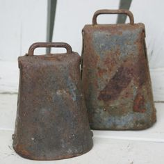 Antique Cow Bell Pair