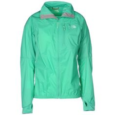 The North Face Jacket ($90) ❤ liked on Polyvore featuring activewear, activewear jackets, jackets, outerwear, light green, logo sportswear and the north face