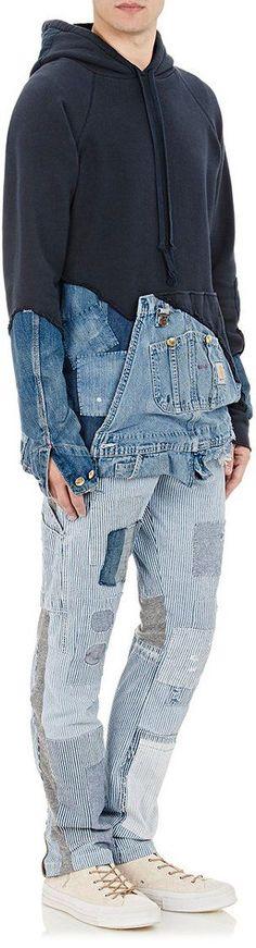 GREG LAUREN Fleece   Denim Hoodie   MAN FASHION   Pinterest   Denim, Jeans  and Clothes 6bd44d1dc6