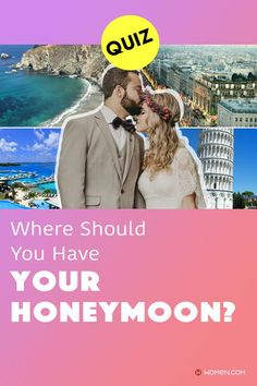 Where should you have your honeymoon? Answer these seventeen questions in this personality quiz to find out. #personalityQuizzes #whoareyou #aboutme #personality #Quizzes #quizzesfunny #quizaboutyourself #funquizzestotake #me #aboutyourself #quizzesaboutyou #honeymoon #bride #weddingplans Color Personality Test, Personality Quizzes, Quizzes Funny, Fun Quizzes To Take, Seventeen, How To Find Out, Bride, Movie Posters, Wedding Bride