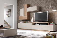Living Room Wall Units, Living Room Modern, Home Living Room, Living Room Designs, Living Room Decor, Tv Cabinet Design, Tv Wall Design, House Design, Tv Unit Interior Design