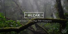 ALZAK - One Page Creative PSD . ALZAK has features such as High Resolution: Yes, Layered: Yes, Minimum Adobe CS Version: CS, Pixel Dimensions: 1920x9072