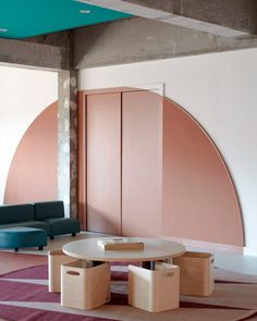 Danielle Brustman used 47 colours in total for the early learning centre, which is located in Richmond, Melbourne, adapting them based on the themes of each room and pushing the colour palette to its limits. Interior Design Work, Residential Interior Design, Interior Paint Colors, Interior Architecture, Learning Centers, Early Learning, Learning Spaces, Concrete Building, Traditional Interior