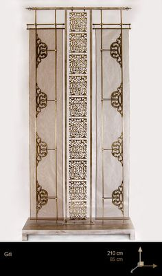 Exotic screen by Deniz Tunc Partition Design, Jaali Design, Asian Furniture, Door Design, Decorative Screens, Pooja Room Design, Wall Design, Wall Paneling, Metal Screen