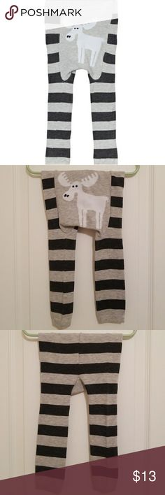 Moose Striped Doodle Pants Very cute Moose Striped Doodle Pants, size Medium, 70% Polyester/30% Spandex, lightly used but in excellent condition. Bottoms Leggings