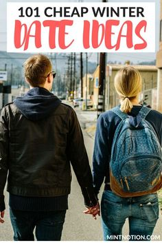 101 cheap winter date ideas. This list is PERFECT for couples who want to save money. It includes many free date ideas for fall and winter. (frugal dates)