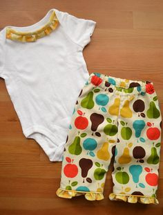 Tutti Frutti Big Butt Baby Pants by WeeSeeThree on Etsy, $35.00