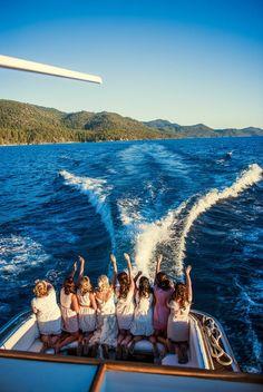 Lake Tahoe Wedding from Chelsea Nicole Photography Lake Tahoe Summer, South Lake Tahoe, Secret Cove Lake Tahoe, Boat Wedding, Wedding Ideas, Dream Wedding, Cruise Wedding, Wedding Summer, Wedding Things