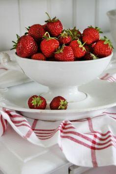 Luscious red strawberries.  VIBEKE DESIGN