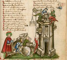 Jansen Enikel, Jans: Weltchronik Bayern-Österreich, 1. Hälfte 15. Jh. Cgm 250 Folio 41