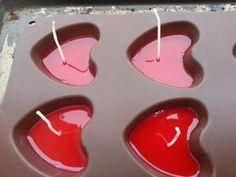 Bougie coeur avec coque de babybel - Assistante maternelle agréée ...