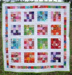 The current one. With a few BIG squares with the bolder fabric I got. I need the background white or ivory...