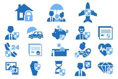 Set Insurance Icons by TopVectors on @creativemarket