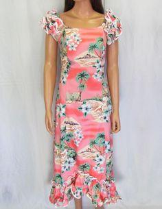 877bda6035 FREE SHIPPING from Hawaii - Beautiful Coral off the shoulder dress. Love  the… Hawaiian