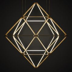 Rux assembled its modular Stickbulb lighting into a giant octahedron