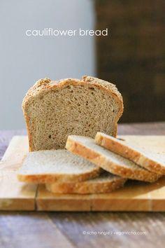 Cauliflower Sandwich Bread Loaf. Vegan Recipe - Vegan Richa