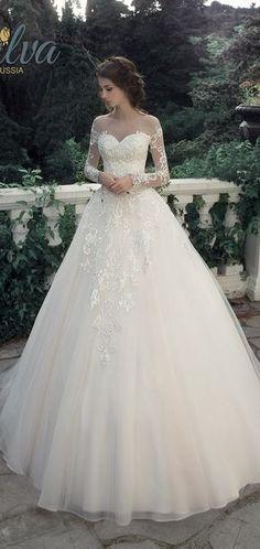 Milva Bridal Wedding Dresses 2017 Leontia / http://www.deerpearlflowers.com/milva-wedding-dresses/5/