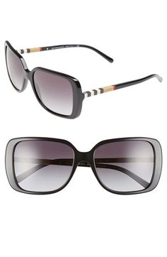 d6149c2cff08 Burberry  London Squared Check Block  57mm Sunglasses available at   Nordstrom London Square