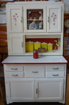 Hoosier Cabinet...my mom had one and I am still looking for one just like it for my home!  I just love them!