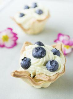 Blueberry tarts.