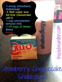 Strawberry Cheesecake Shakeology recipe and more health and fitness tips and motivation at www.traciebearden.com