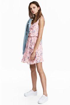 Vestido cruzado con volantes - Rosa claro - MUJER | H&M ES 1