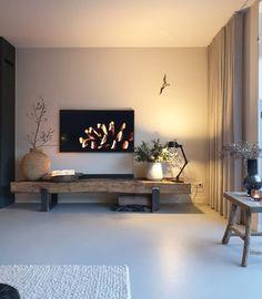 Home Room Design, Home Interior Design, Living Room Designs, House Design, Living Room Tv, Home And Living, Modern Interior, Home Decor, Tv Rooms