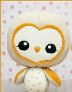 PDF Barn owl Plush Doll Pattern Softie Pattern Soft by Noialand Softies, Plushies, Softie Pattern, Felt Fabric, Fabric Dolls, Felt Toys, Sock Toys, Plush Dolls, Rag Dolls