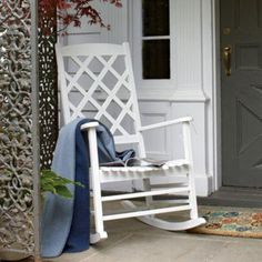 love the old plain rocking chairs...