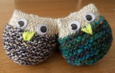 lynhedgehogs hand knitted owl keyrings Knitted Owl, Wool Art, Hand Knitting, Crafting, Pattern, Bookmarks, Owls, Inspiration, Etsy