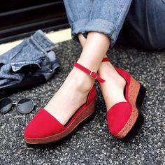 Купить товарКорея стиль сладкий женская обувь свободного покроя мода платформы клинья лодочки дамы летнее платье туфли на платформе для женщины в категории Туфлина AliExpress.     Размер: 34-39         Каблук: 7 см         Платформа: 4 см              Размер диаграммы:             Пожалуйста, вы