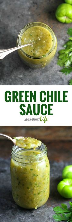 Try this Green Chile Sauce recipe with enchiladas, smothered burritos, green chile stew and other Mexican dishes! Very easy to make, healthy, and tastes much better than the canned stuff! Green Chile Sauce Recipe, Chili Sauce Recipe, Salsa Recipe, Sauce Recipes, Aloo Recipes, Recipies, Gluten Free Chicken Broth, Gluten Free Sauces, Sauce Enchilada
