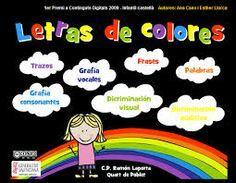 Tic  letras de colores   hacer el trazo  http://www.ramonlaporta.es/jocsonline/letras/swf/letras3.html