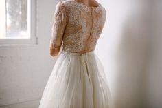 custom Danielle gown from Leanne Marshall