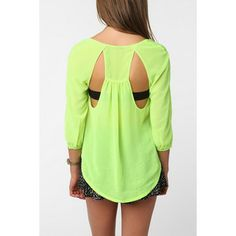 Open Back Chiffon Blouse by Sparkle & Fade